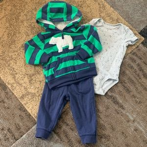 Baby Boy Outfit Set - 3 Piece